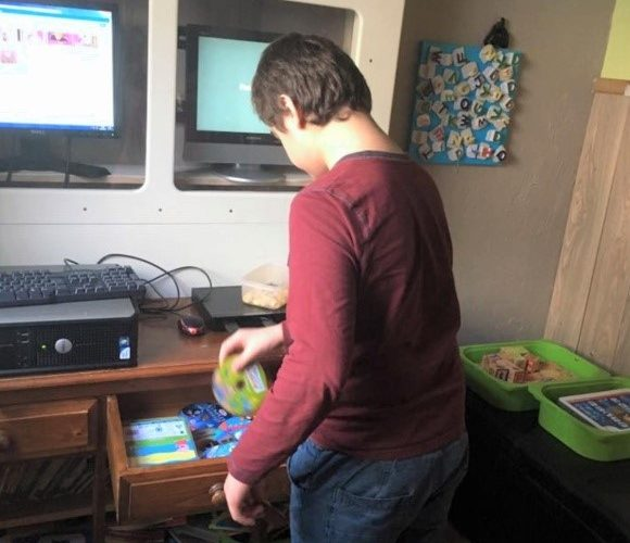 Boy with games
