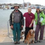 Walkers with dog