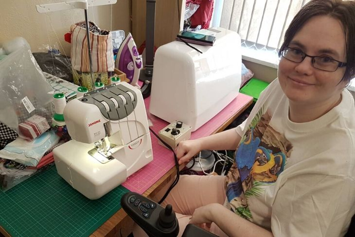 Michelle and her sewing machine